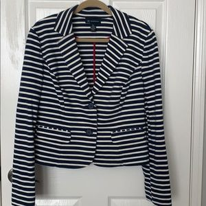 INC International Concepts Cotton Striped Jacket